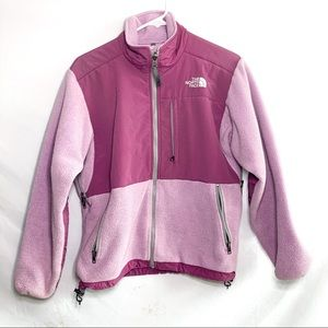 Women's North face soft shell light purple jacket